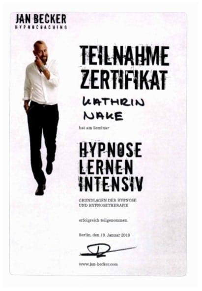 Zertifikat Jan Becker